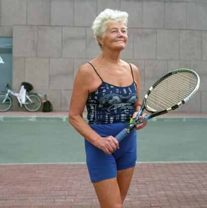 Squashspielerin in St. Petersburg